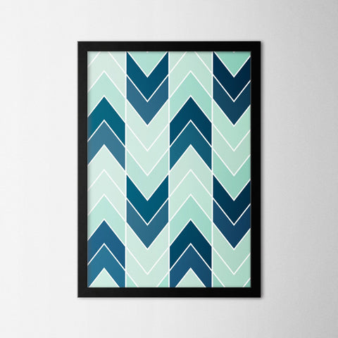 Abstract Chevron - Northshire - Poster - Dekorasyon - Ev Dekorasyonu - Wall Art - Metal Wall Art - Decoration
