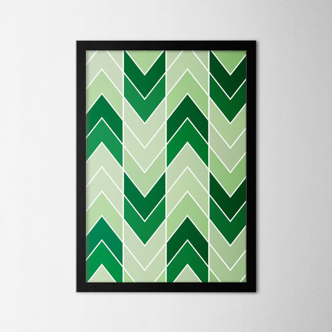 Abstract Chevron II - Northshire - Poster - Dekorasyon - Ev Dekorasyonu - Wall Art - Metal Wall Art - Decoration