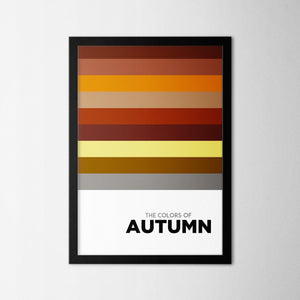 Colors of Seasons - Autumn - Northshire - Poster - Dekorasyon - Ev Dekorasyonu - Wall Art - Metal Wall Art - Decoration
