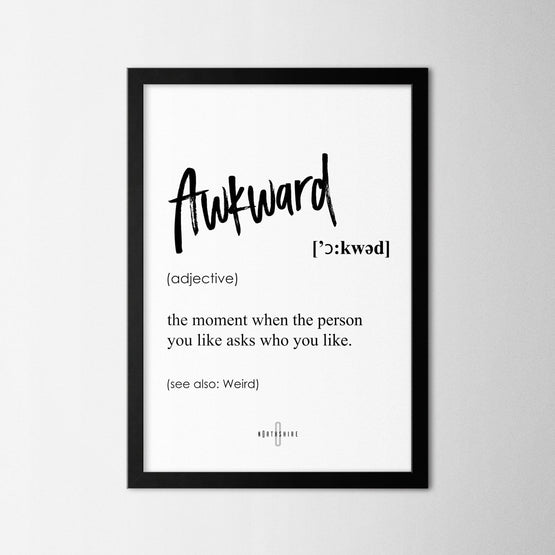 Awkward - Northshire - Poster - Dekorasyon - Ev Dekorasyonu - Wall Art - Metal Wall Art - Decoration