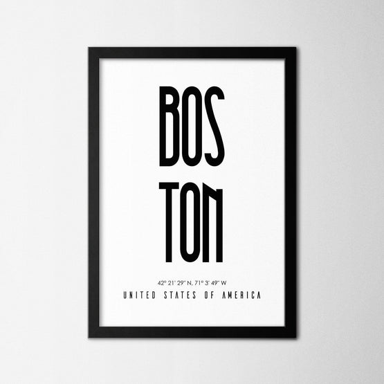Boston - Northshire - Poster - Dekorasyon - Ev Dekorasyonu - Wall Art - Metal Wall Art - Decoration