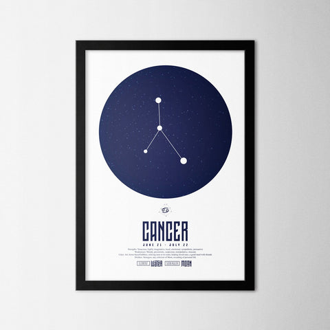 Zodiac - Cancer - Northshire - Poster - Dekorasyon - Ev Dekorasyonu - Wall Art - Metal Wall Art - Decoration