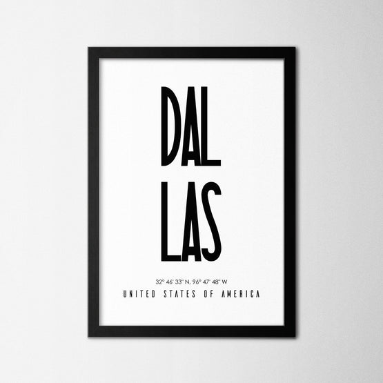 Dallas - Northshire - Poster - Dekorasyon - Ev Dekorasyonu - Wall Art - Metal Wall Art - Decoration