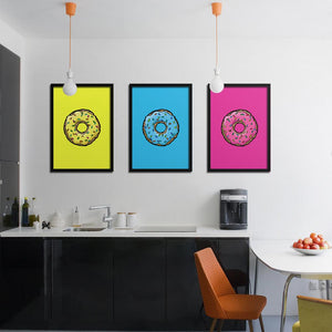 Triple Donuts - Northshire - Poster - Dekorasyon - Ev Dekorasyonu - Wall Art - Metal Wall Art - Decoration