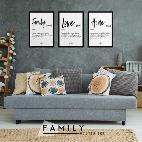 Family Set - Northshire - Poster - Dekorasyon - Ev Dekorasyonu - Wall Art - Metal Wall Art - Decoration