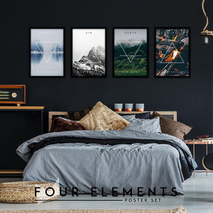 Four Elements Set - Northshire Art Prints - Metal Dekorasyon - Poster - Dekorasyon - Ev Dekorasyonu - Duvar Süsü