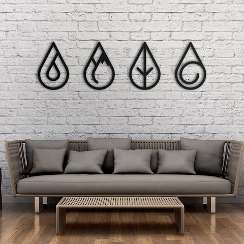 Four Elements - Metal Dekor - Northshire - Poster - Dekorasyon - Ev Dekorasyonu - Wall Art - Metal Wall Art - Decoration