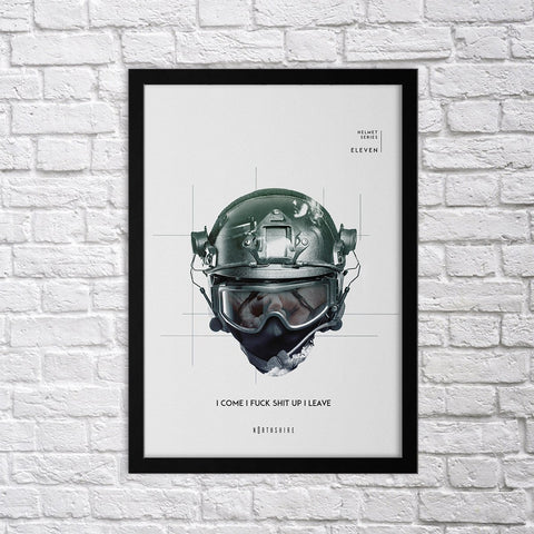 Helmet Set - XI - Northshire - Poster - Dekorasyon - Ev Dekorasyonu - Wall Art - Metal Wall Art - Decoration