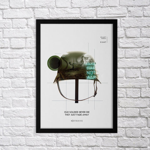 Helmet Set - VIII - Northshire - Poster - Dekorasyon - Ev Dekorasyonu - Wall Art - Metal Wall Art - Decoration
