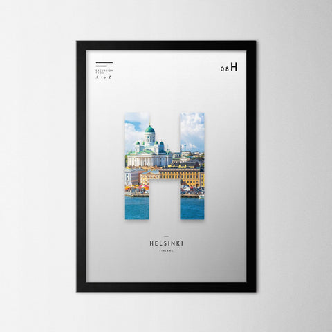 A to Z - Helsinki - Northshire - Poster - Dekorasyon - Ev Dekorasyonu - Wall Art - Metal Wall Art - Decoration