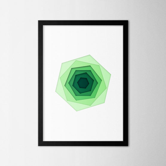 Papercut Hexagons - Northshire - Poster - Dekorasyon - Ev Dekorasyonu - Wall Art - Metal Wall Art - Decoration