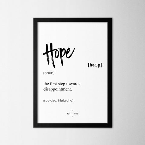 Hope - Northshire - Poster - Dekorasyon - Ev Dekorasyonu - Wall Art - Metal Wall Art - Decoration