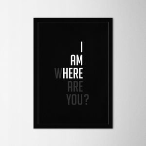 I'm Here - Northshire - Poster - Dekorasyon - Ev Dekorasyonu - Wall Art - Metal Wall Art - Decoration