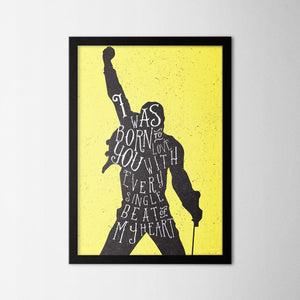 I Was Born to Love You - Northshire Art Prints - Metal Dekorasyon - Poster - Dekorasyon - Ev Dekorasyonu - Duvar Süsü