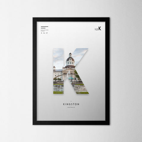 A to Z - Kingston - Northshire - Poster - Dekorasyon - Ev Dekorasyonu - Wall Art - Metal Wall Art - Decoration