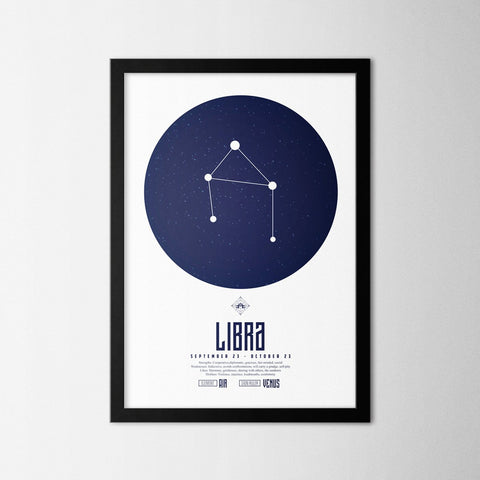 Zodiac - Libra - Northshire - Poster - Dekorasyon - Ev Dekorasyonu - Wall Art - Metal Wall Art - Decoration