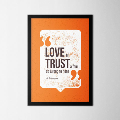 Love All - Northshire - Poster - Dekorasyon - Ev Dekorasyonu - Wall Art - Metal Wall Art - Decoration