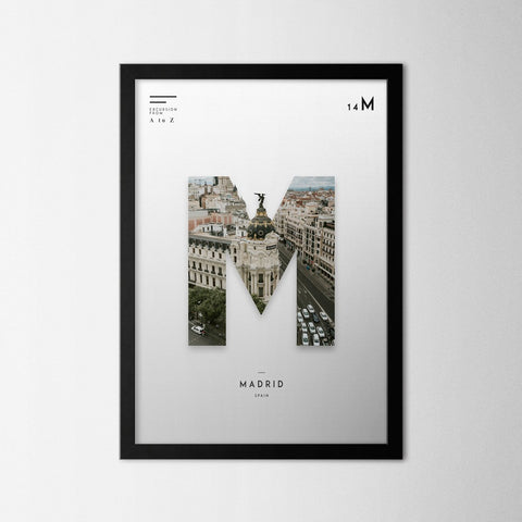 A to Z - Madrid - Northshire - Poster - Dekorasyon - Ev Dekorasyonu - Wall Art - Metal Wall Art - Decoration