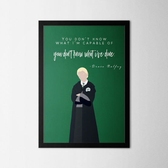 Harry Potter - Draco Malfoy - Northshire - Poster - Dekorasyon - Ev Dekorasyonu - Wall Art - Metal Wall Art - Decoration