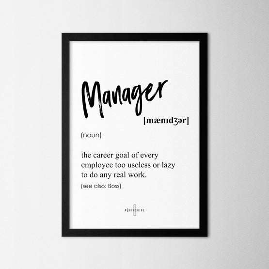 Manager - Northshire - Poster - Dekorasyon - Ev Dekorasyonu - Wall Art - Metal Wall Art - Decoration