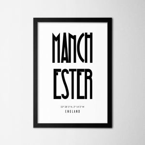 Manchester - Northshire Art Prints - Metal Dekorasyon - Poster - Dekorasyon - Ev Dekorasyonu - Duvar Süsü