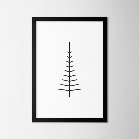 Minimal Tree VII - Northshire - Poster - Dekorasyon - Ev Dekorasyonu - Wall Art - Metal Wall Art - Decoration