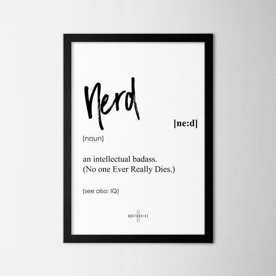 Nerd - Northshire - Poster - Dekorasyon - Ev Dekorasyonu - Wall Art - Metal Wall Art - Decoration