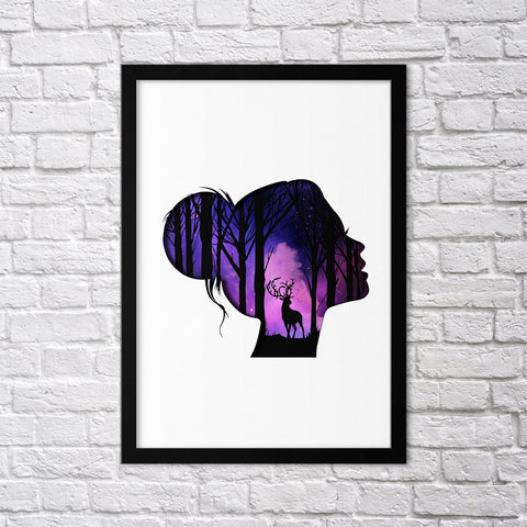Purple Dream Set - Northshire - Poster - Dekorasyon - Ev Dekorasyonu - Wall Art - Metal Wall Art - Decoration