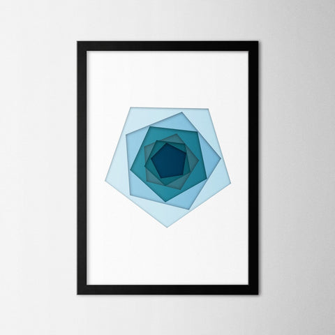 Papercut Pentagons - Northshire - Poster - Dekorasyon - Ev Dekorasyonu - Wall Art - Metal Wall Art - Decoration