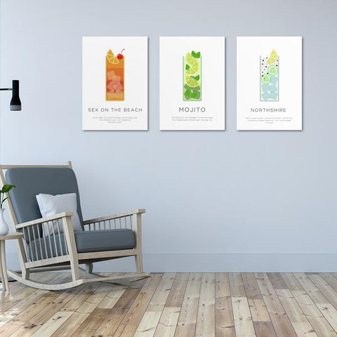 Cocktails - Metal Poster - Northshire - Poster - Dekorasyon - Ev Dekorasyonu - Wall Art - Metal Wall Art - Decoration