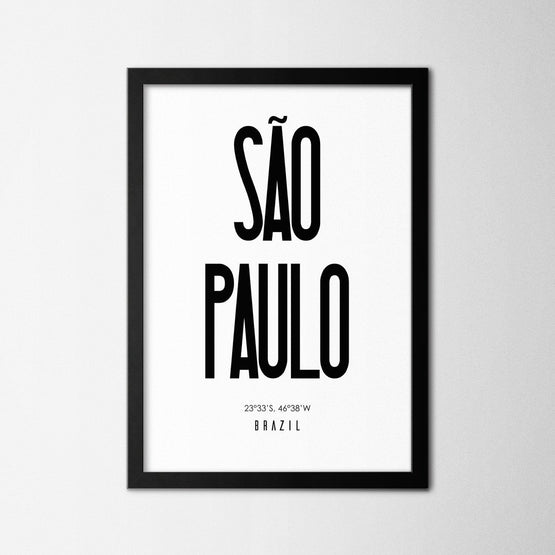 Sao Paulo - Northshire - Poster - Dekorasyon - Ev Dekorasyonu - Wall Art - Metal Wall Art - Decoration