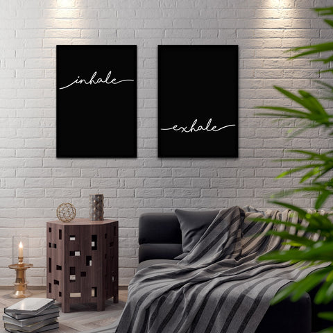 Breathe Poster Set - Northshire - Poster - Dekorasyon - Ev Dekorasyonu - Wall Art - Metal Wall Art - Decoration