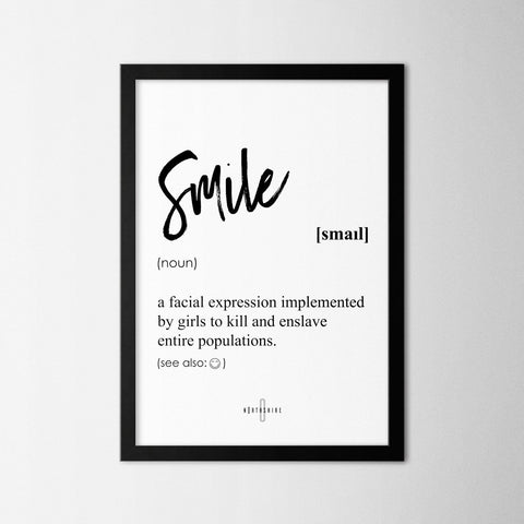 Smile - Northshire - Poster - Dekorasyon - Ev Dekorasyonu - Wall Art - Metal Wall Art - Decoration