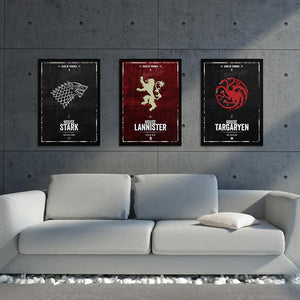Game of Thrones Houses - Northshire Art Prints - Metal Dekorasyon - Poster - Dekorasyon - Ev Dekorasyonu - Duvar Süsü