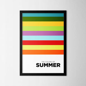 Colors of Seasons - Summer - Northshire Art Prints - Metal Dekorasyon - Poster - Dekorasyon - Ev Dekorasyonu - Duvar Süsü
