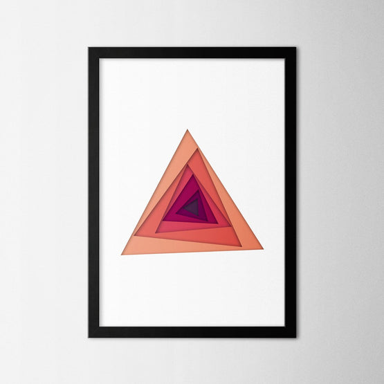 Papercut Triangles - Northshire - Poster - Dekorasyon - Ev Dekorasyonu - Wall Art - Metal Wall Art - Decoration