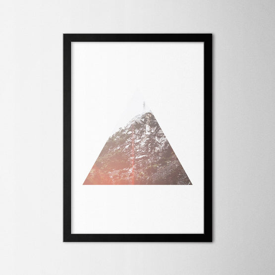 Triangle Mountain - Northshire - Poster - Dekorasyon - Ev Dekorasyonu - Wall Art - Metal Wall Art - Decoration