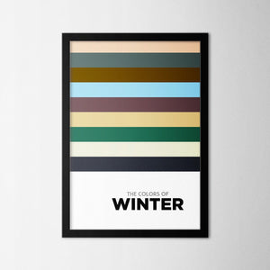 Colors of Seasons - Winter - Northshire Art Prints - Metal Dekorasyon - Poster - Dekorasyon - Ev Dekorasyonu - Duvar Süsü