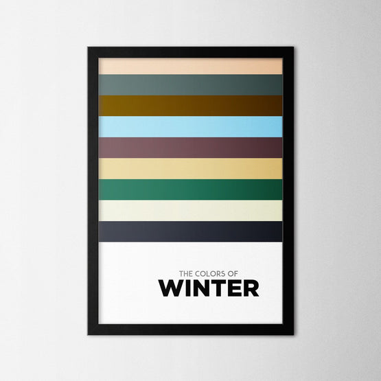 Colors of Seasons - Winter - Northshire - Poster - Dekorasyon - Ev Dekorasyonu - Wall Art - Metal Wall Art - Decoration