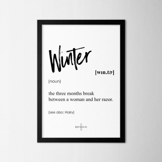 Winter - Northshire - Poster - Dekorasyon - Ev Dekorasyonu - Wall Art - Metal Wall Art - Decoration