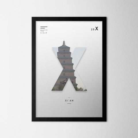 A to Z - Xi'an - Northshire - Poster - Dekorasyon - Ev Dekorasyonu - Wall Art - Metal Wall Art - Decoration