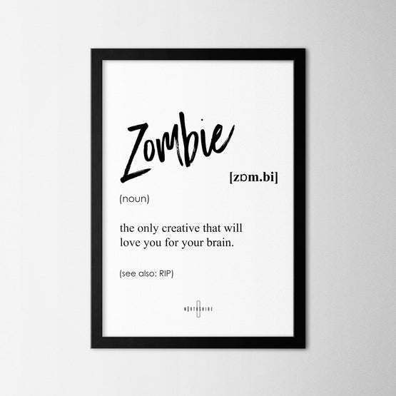 Zombie - Northshire - Poster - Dekorasyon - Ev Dekorasyonu - Wall Art - Metal Wall Art - Decoration