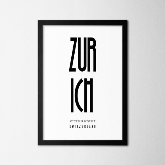Zurich - Northshire - Poster - Dekorasyon - Ev Dekorasyonu - Wall Art - Metal Wall Art - Decoration
