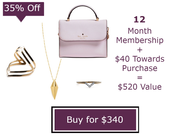 1 Year -Unlimited Handbags & Jewelry Membership