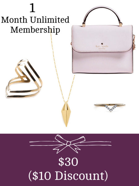 Gift 1 month of unlimited handbags and jewelry