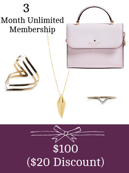 Gift 3 months of unlimited handbags and jewelry