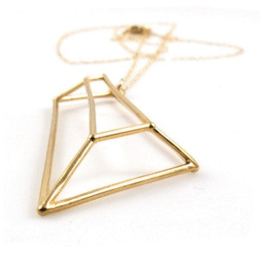 Geometric Drop Necklace
