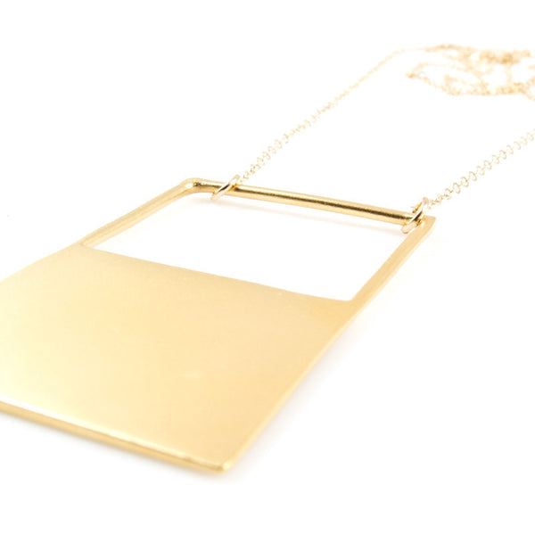 Half Open Rectangle Necklace
