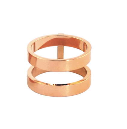 Double Bar Rose Gold Ring