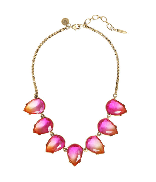 Sunset Ombre Statement Necklace